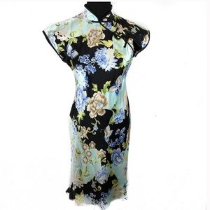 🆕🌹BEAUTIFUL VINTAGE ASIAN INFLUENCED DRESS, M